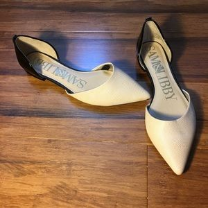 Sam & Libby 2 toned pointy toe flats size 6 1/2